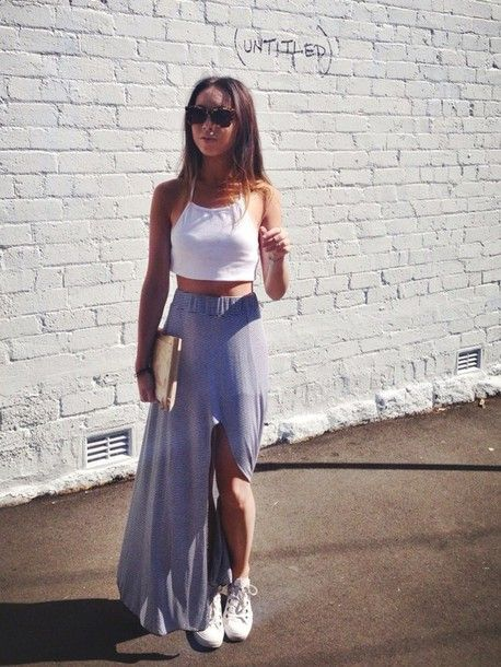 Slip Skirt & Tank Top Outfit