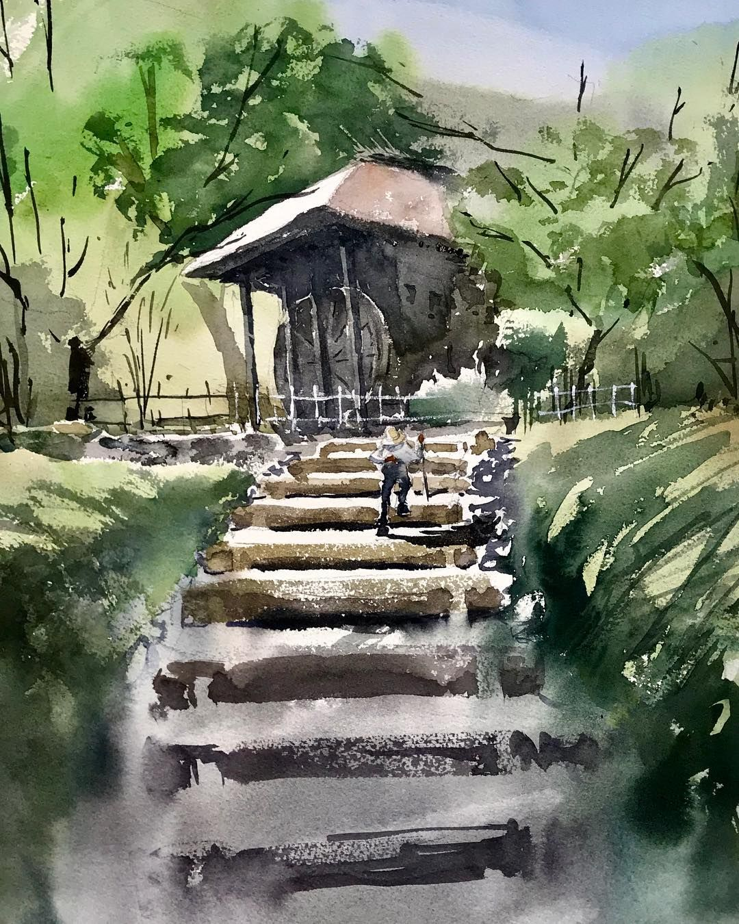 Kazuo Kasai On Instagram Water Mill Hut 51cm 36cm In