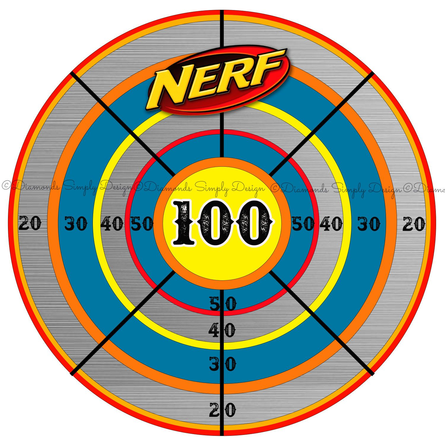 Enterprising image with printable nerf targets