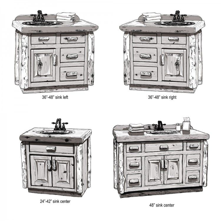 Weathered Wood Bathroom Vanity 24 72 Rustic Bathroom Vanities Wood Bathroom Vanity Wood Bathroom