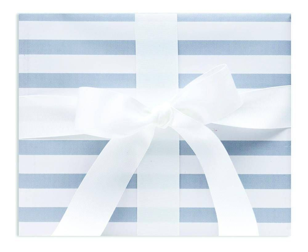 Grey Striped Wrapping Paper