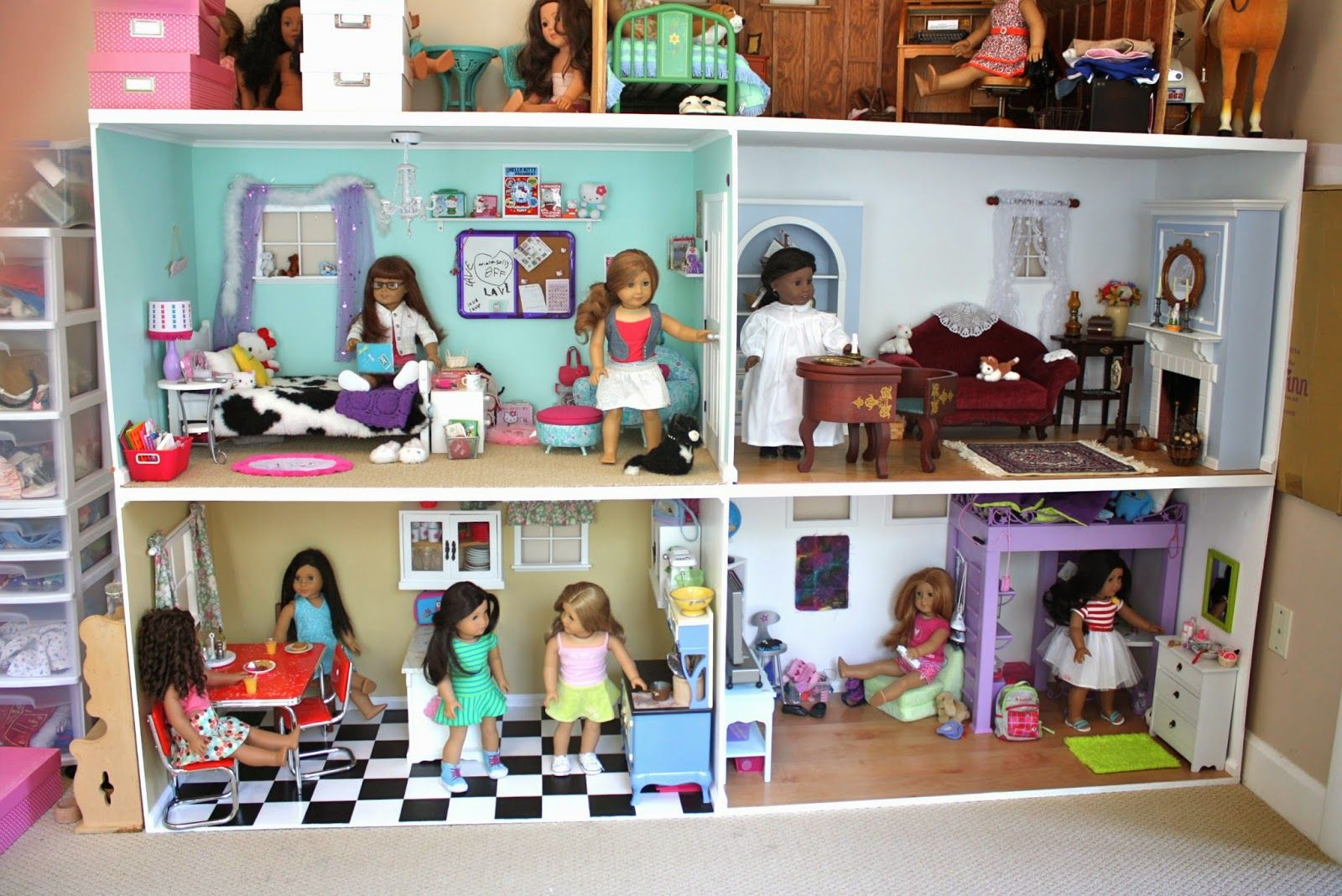 Pippaloo For Dolls Updated Dollhouse Tour Ag For Anna