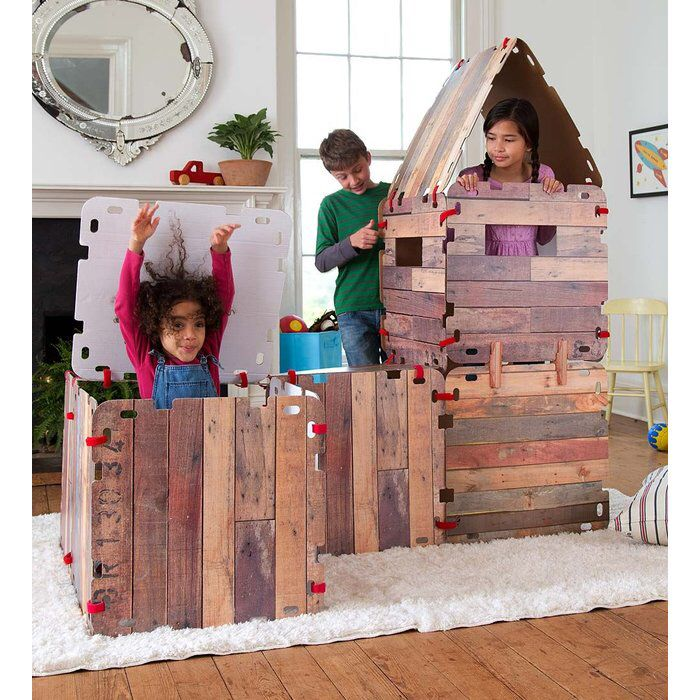 16 Piece Fantasy Fort Cabin Play Tent (With Images