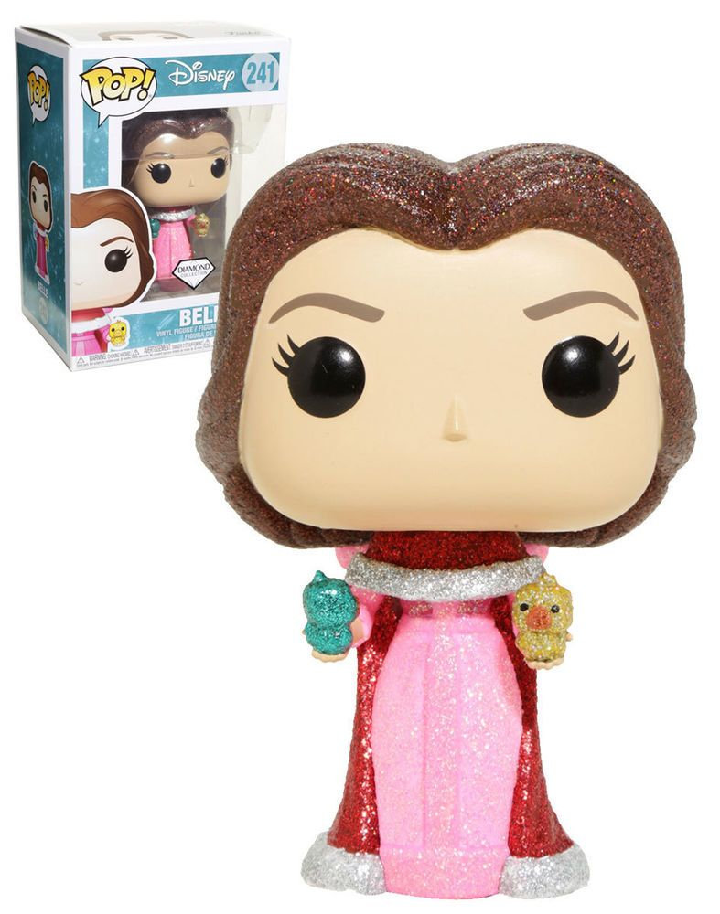 Details About Funko Pop Disney 241 Diamond Collection Belle With