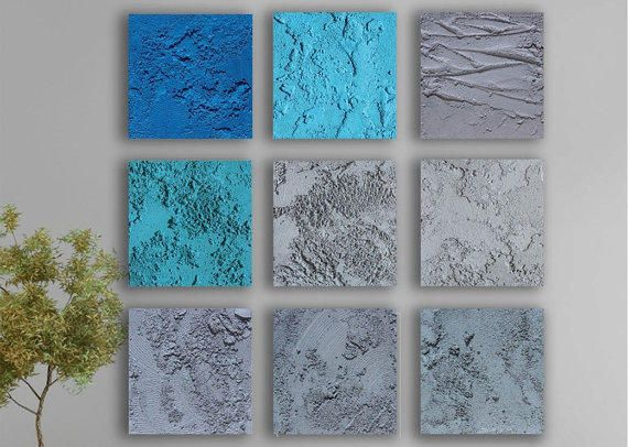 Concrete Abstract Wall Art 9 Square Original Abstract