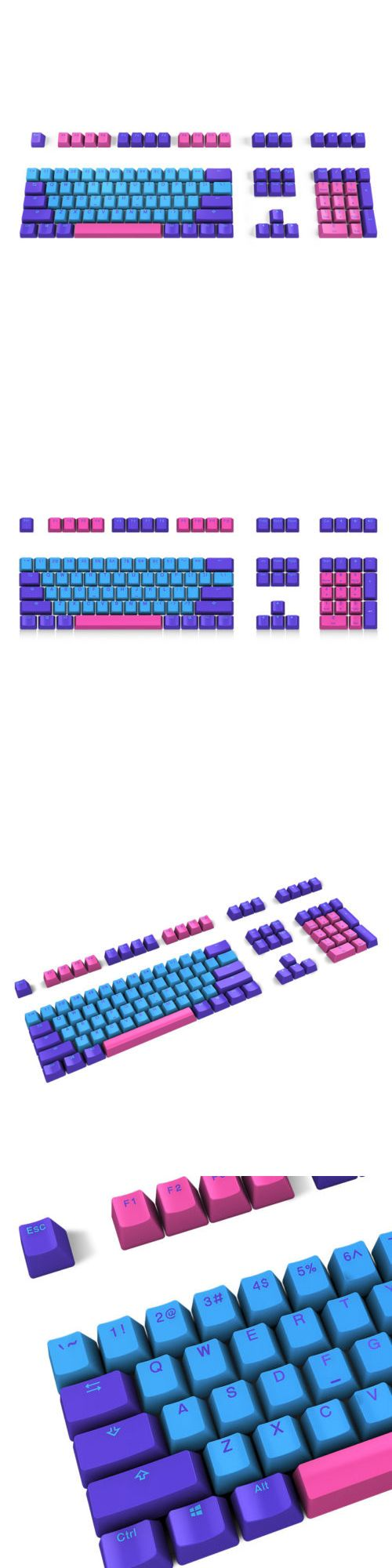 Other Keyboards And Mice 170 Akko X Ducky Hardcap Joker Pbt Double