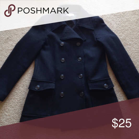 Old Navy Pea Coat Black pea coat from Old Navy. All original ...