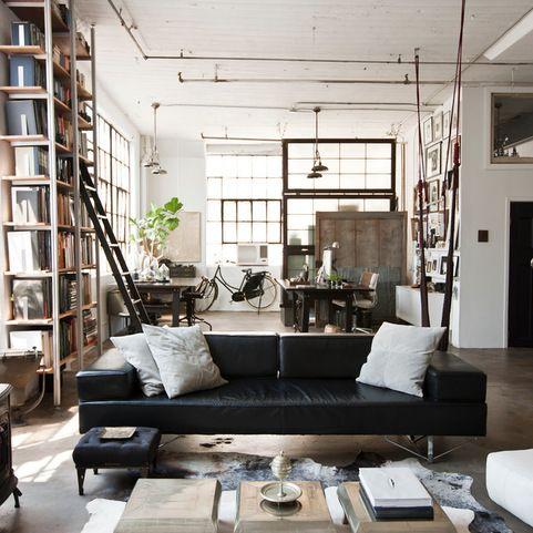 industrial bei houzz loft style wohnen dank industrial chic industrial style pinterest. Black Bedroom Furniture Sets. Home Design Ideas