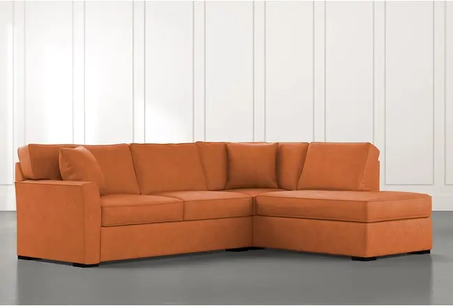 Best Aspen Orange 2 Piece Sectional Sofa With Right Facing 640 x 480
