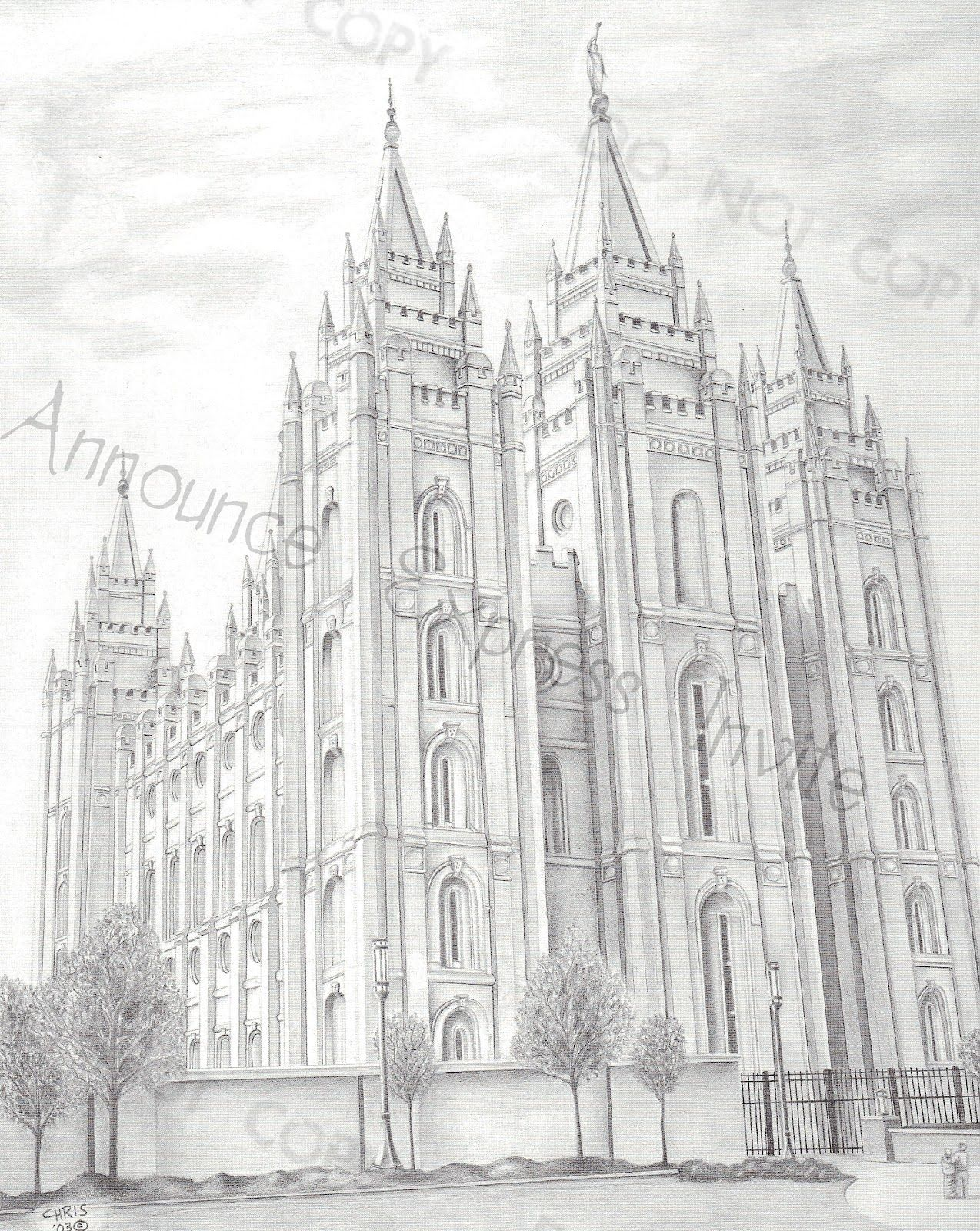 A Pocket full of LDS prints: Temple Drawings | LDS ideas | Pinterest ...