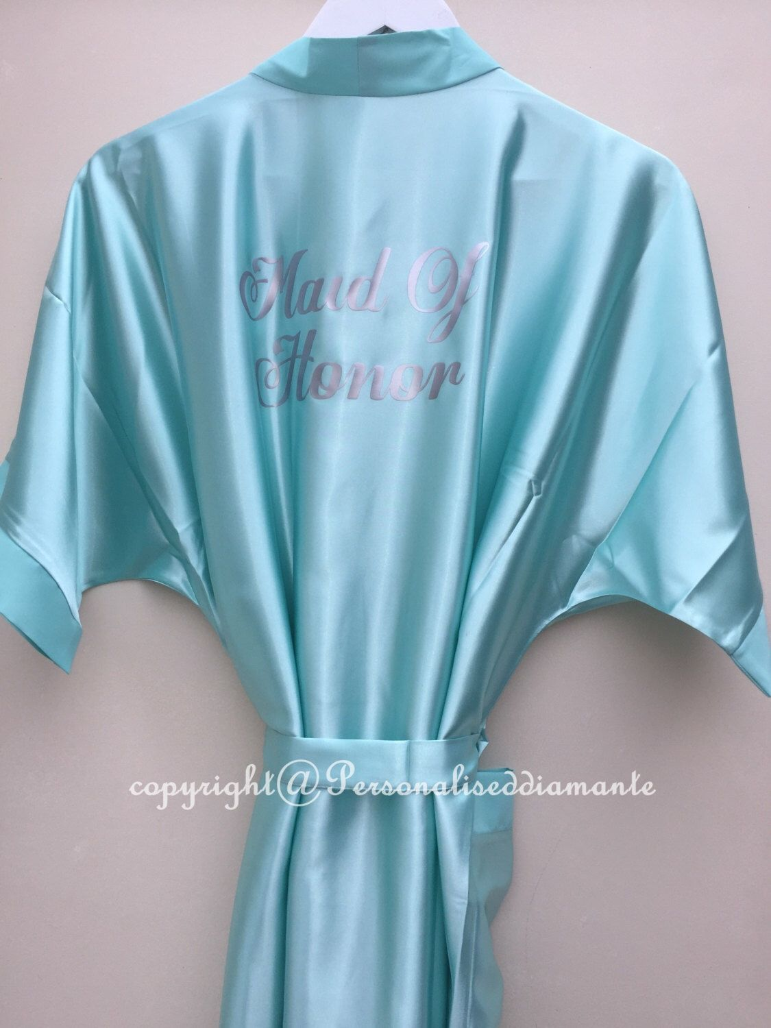 Embroidered Bridesmaid Robe And Makeup Bags - Bridal Party - 17394