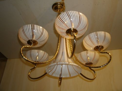VINTAGE-DINO-MARTENS-STYLE-FILIGRANA-7-LIGHT-MURANO-GLASS-CHANDELIER-BEAUTIFUL