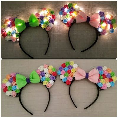 Disney Crafting Part 5 - Light Up Minnie Ears - The Boeck Family #disneycrafts