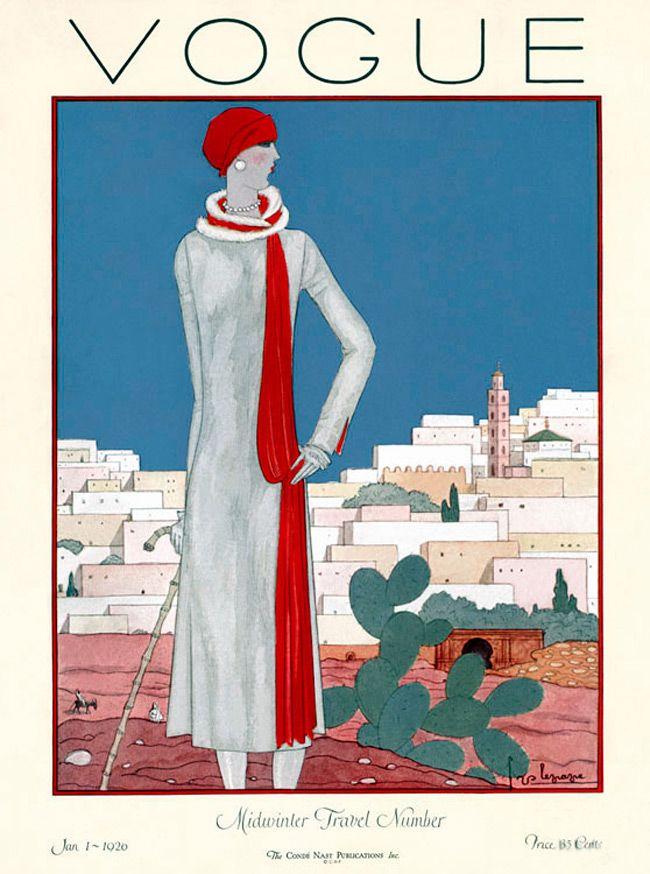Vogue January 1920 fashion illustration by Georges... | illustration ...