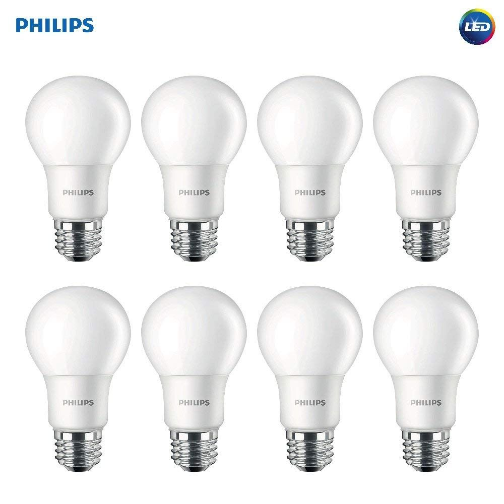 Philips Led Non Dimmable A19 Frosted Light Bulb 1500 Lumen 5000 Kelvin 14 Watt 100 Watt Equivalent E26 Medium Light Bulb Philips Led Dimmable Led Lights