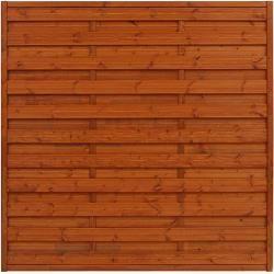 Sichtschutzzaun Classic (180 x 180 cm, Gerade, Braun