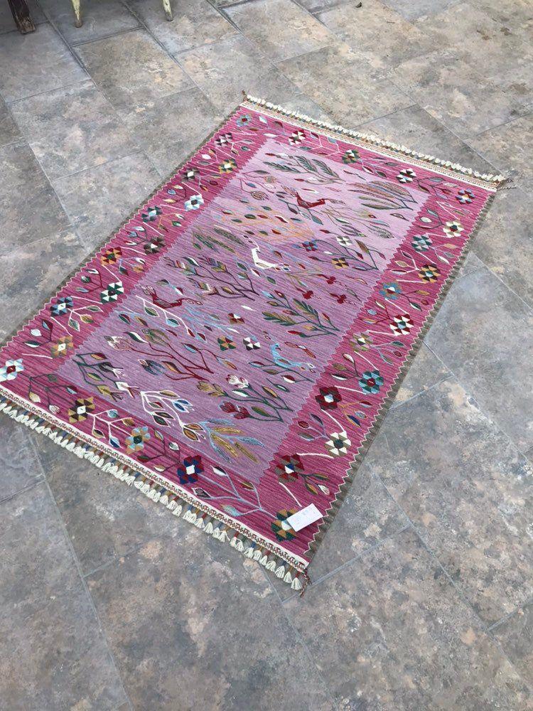 Farmhouse decor rustic kilim rug handmade kilim rugs