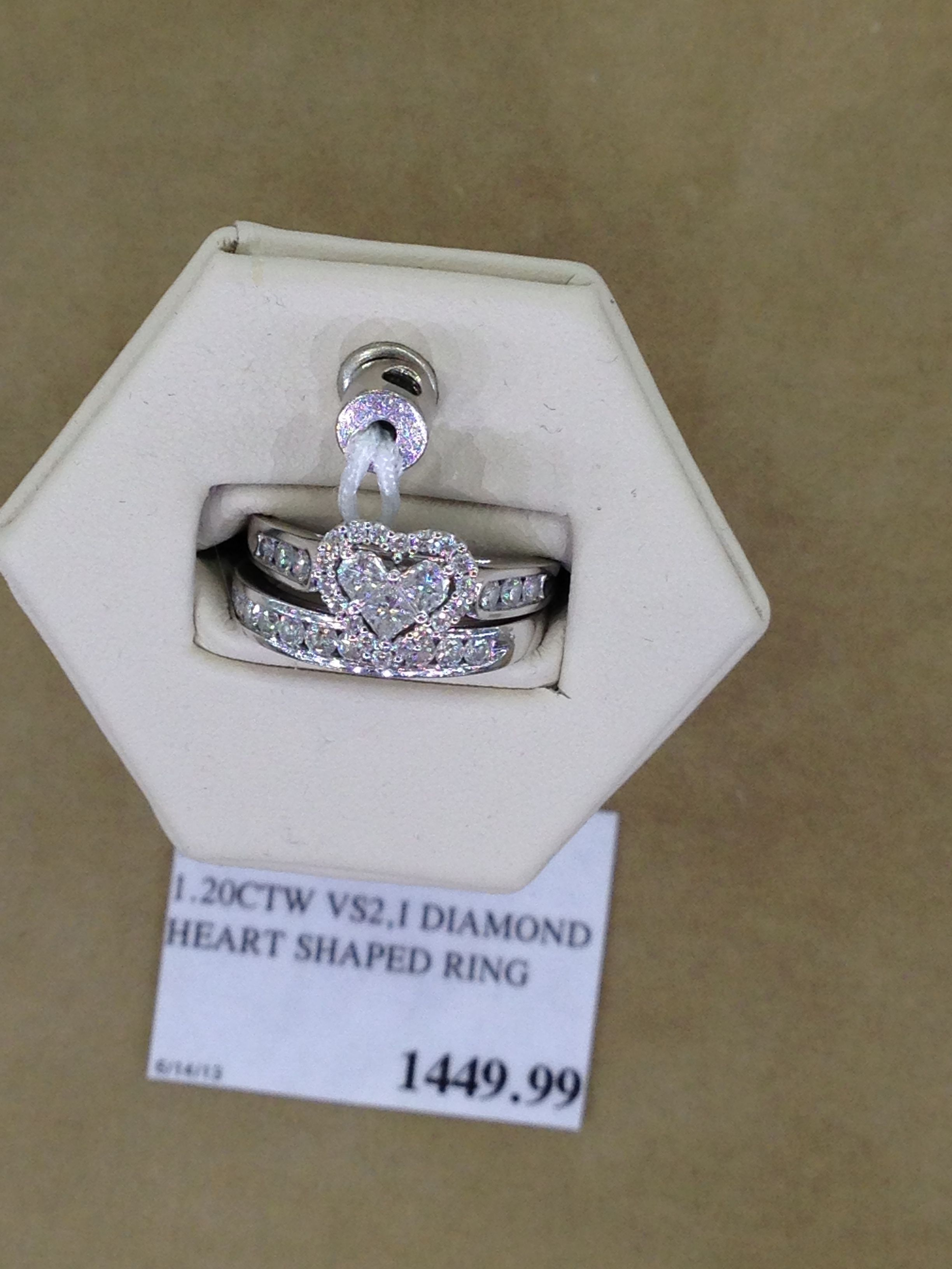 Costco Heart Wedding Ring I am in love It s heart shaped and
