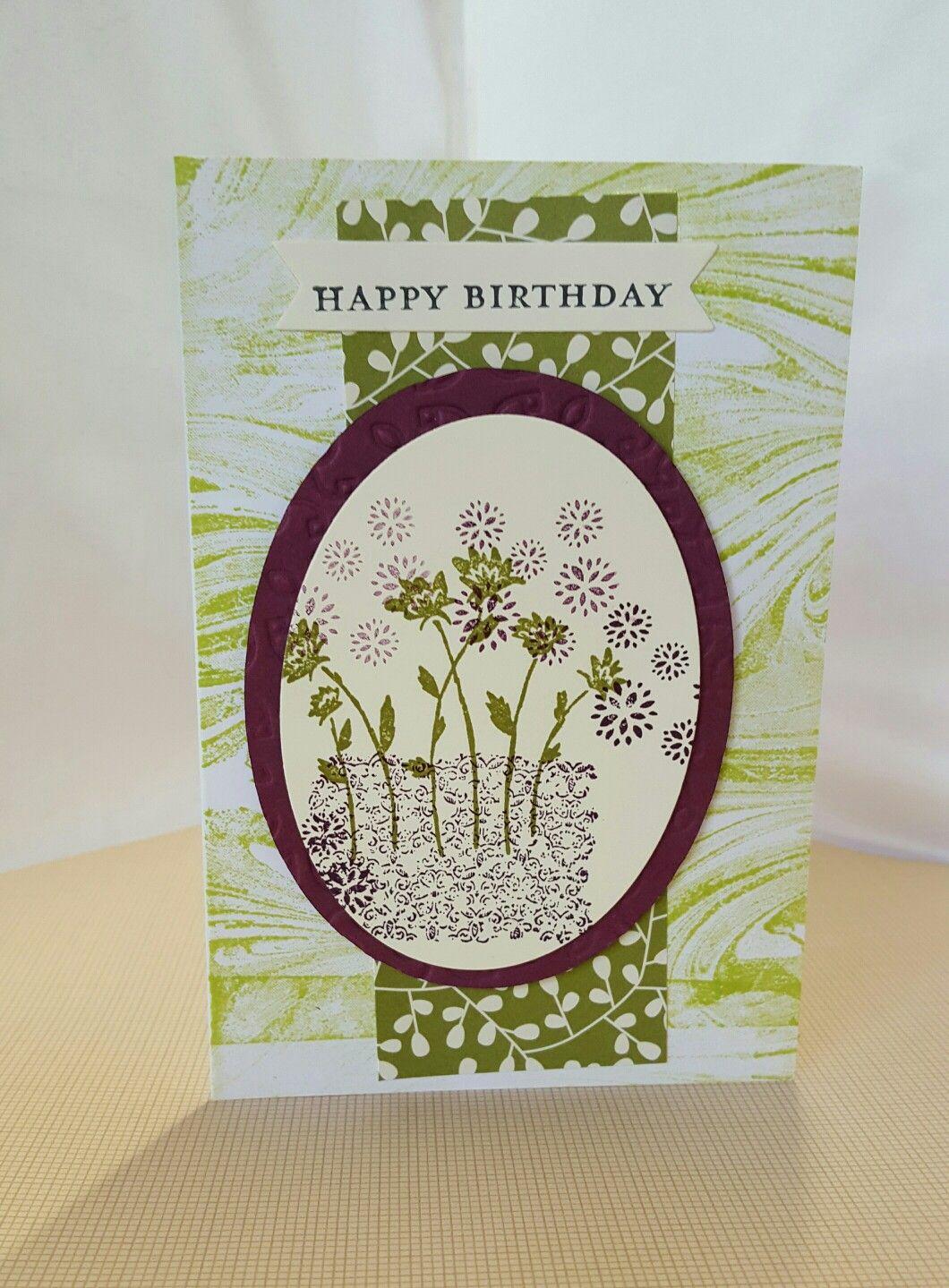 handmade birthday card using stampin up products uk