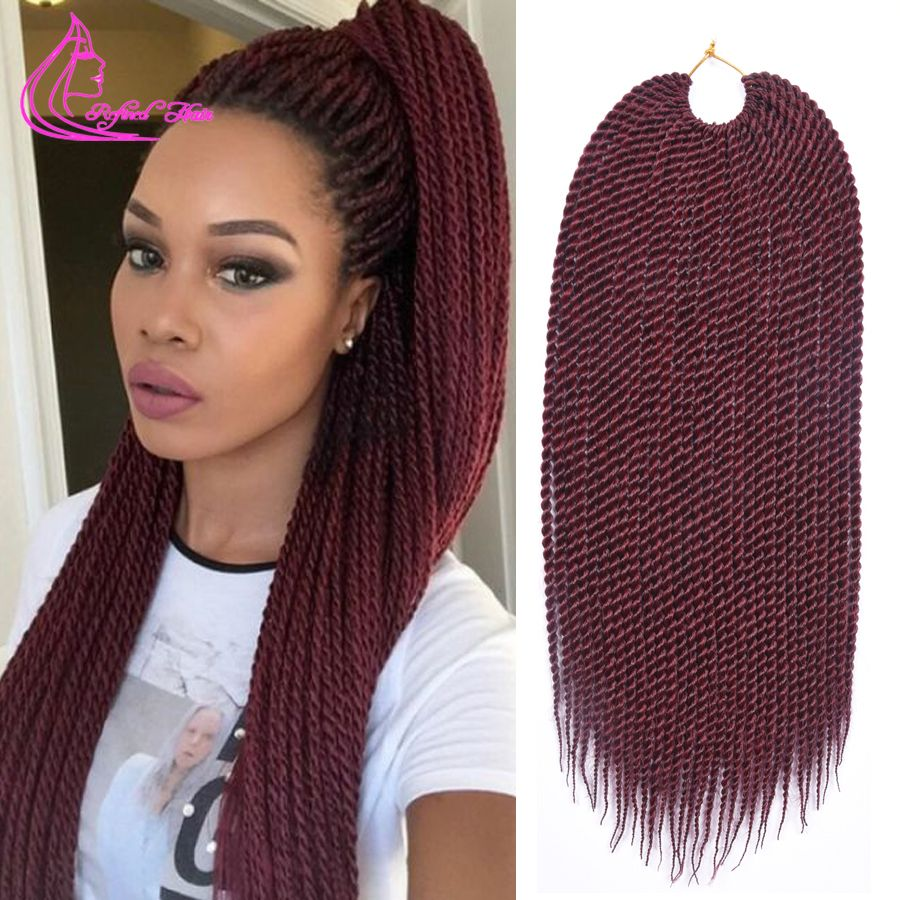 Big promotion ombre jumbo braiding hair 18 30 strands 75g pack xpression ombre hair crochet - Crochet braids avec xpression ...