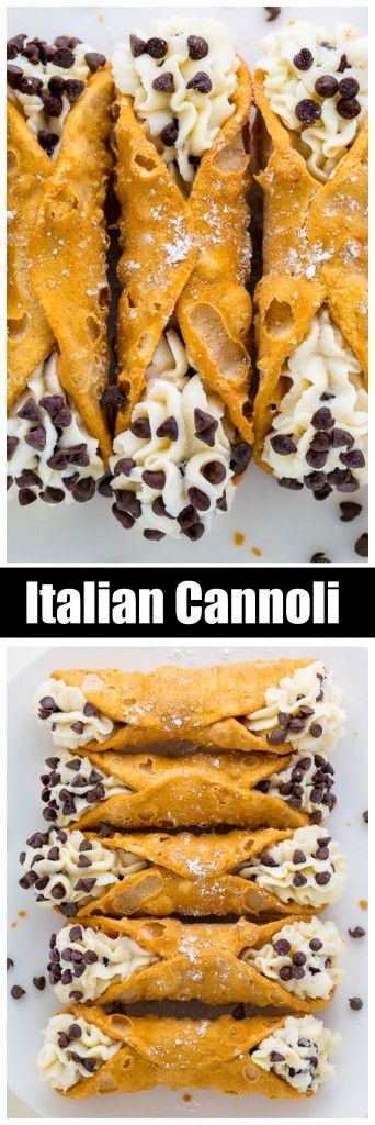 5-Ingredient Cannolis #easydesserts