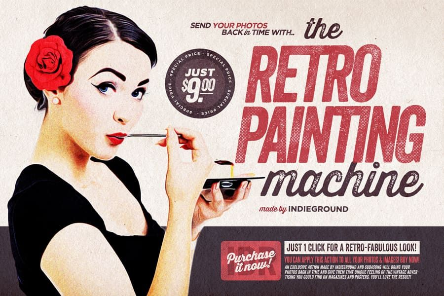 Indieground S Weekly Inspiration Dose 070 In 2020 Retro Painting Vintage Photoshop Actions Retro