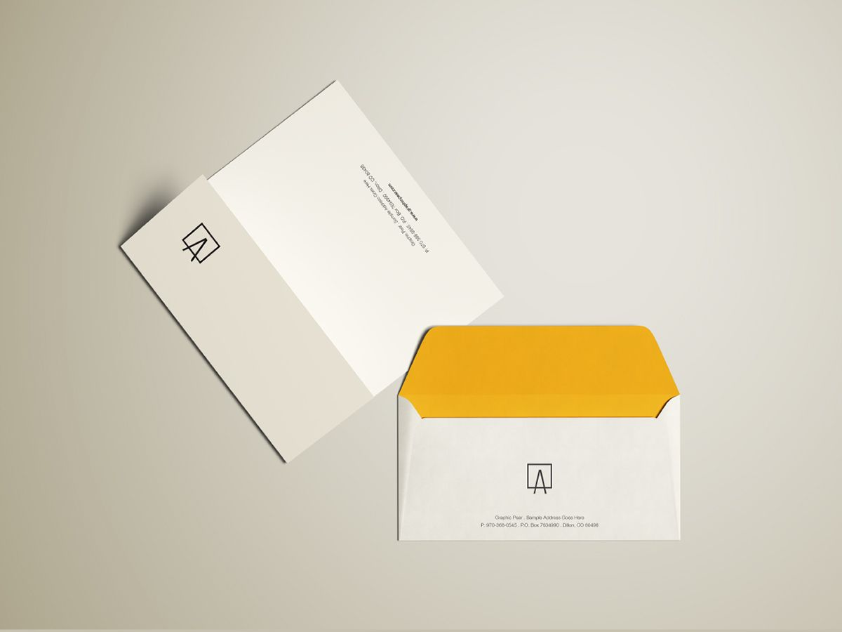 free envelope mockup psd on behance form factor mockup psd