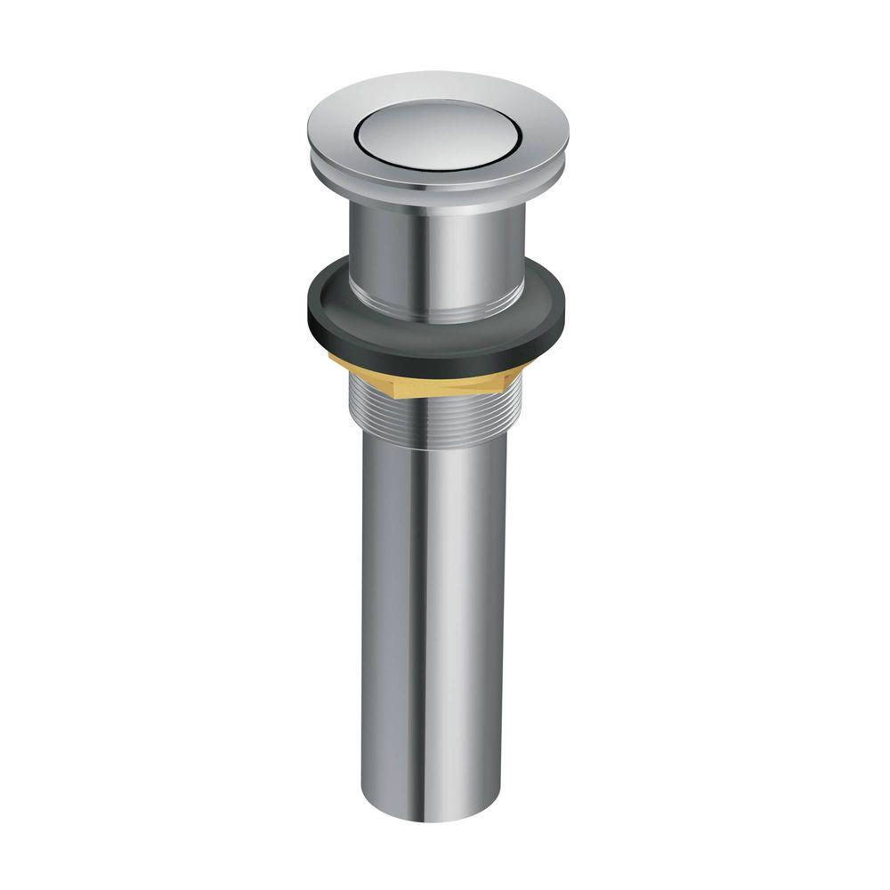 Moen Lavatory Pop Up Drain Assembly Without Overflow In Chrome 140780 The Home Depot Bathroom Sink Drain Sink Drain Widespread Bathroom Faucet