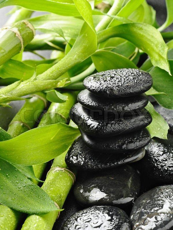 Wellness steine wallpaper  Bamboo and zen stones wallpaper | Wallpaper Wide HD | Quarto ZEN ...