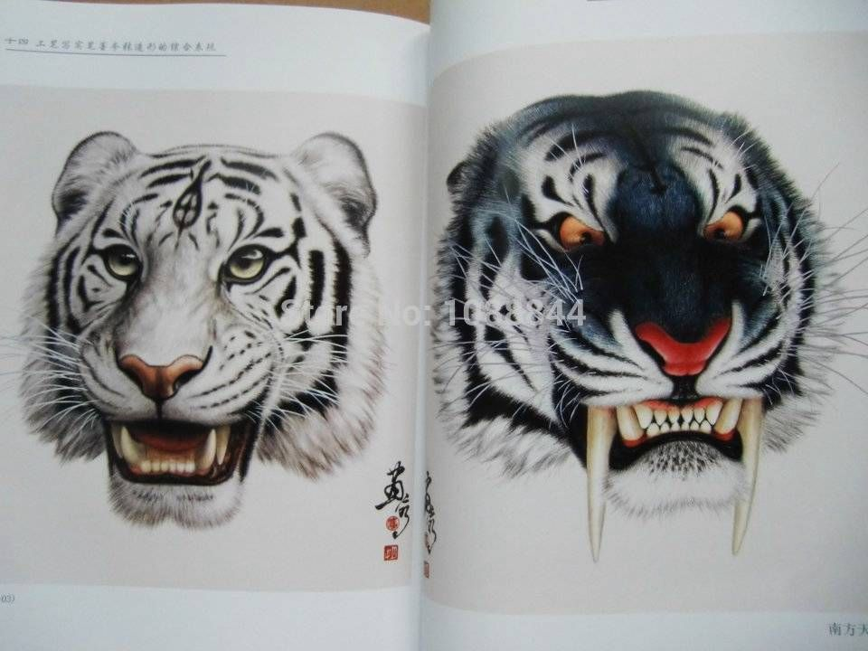 Wholesale-China Tiger Head Painting Book Reference for Tattoo Flash ...