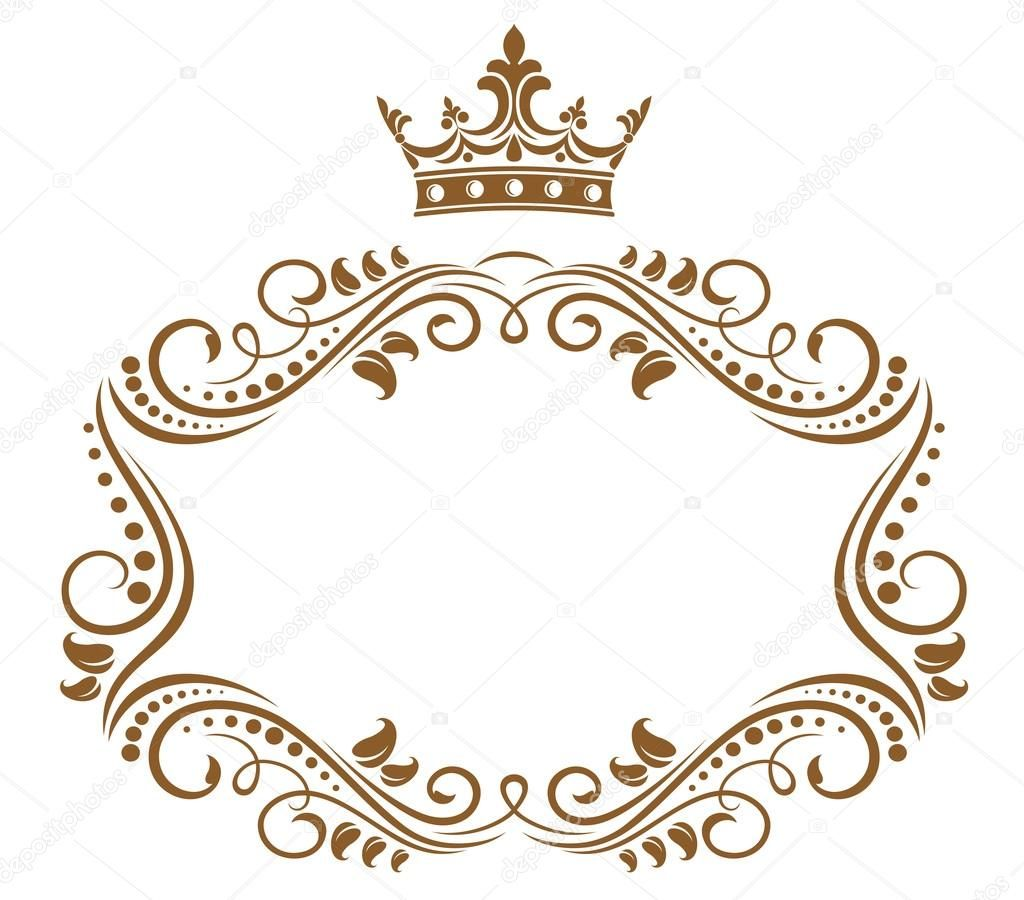 Royal carriage in silhouette royalty free stock vector art - Baixar Elegante Moldura Real Com Coroa Ilustra 231 227 O De