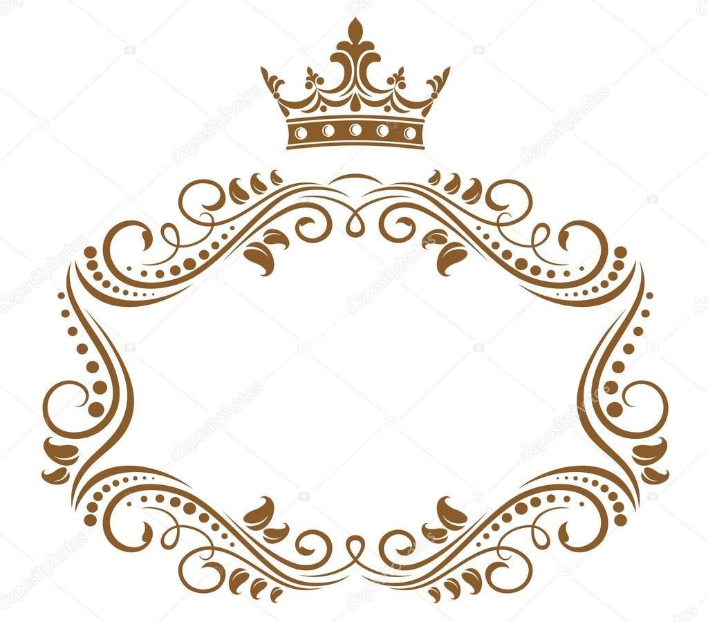 Descargar - Elegante marco real con corona — Ilustración de stock ...