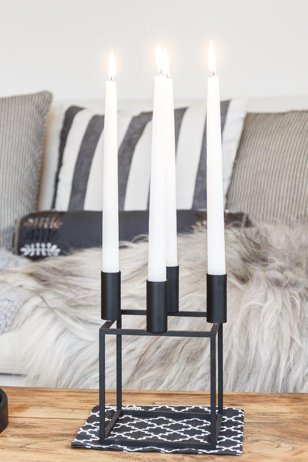 Amalie loves Denmark - Wohnzimmer im Herbst und graue Strickdecke ...