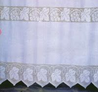 Professione Donna: Inserto e bordo per la tenda con grappoli d'uva e foglie di vite  Crochet ...