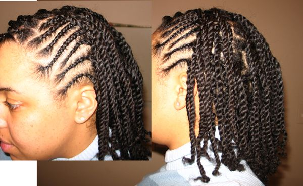 Awe Inspiring Box Braids And Cornrows W O Extensions Favorite Natural Short Hairstyles For Black Women Fulllsitofus