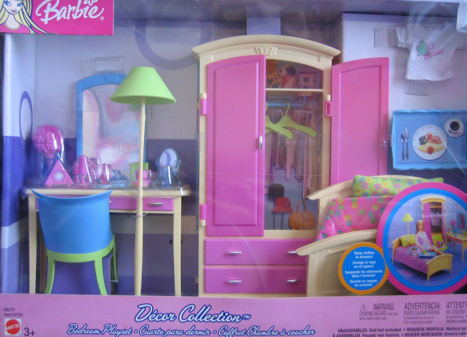 Barbie Bedroom In A Box: Amazon.com: Barbie Decor Collection BEDROOM Playset
