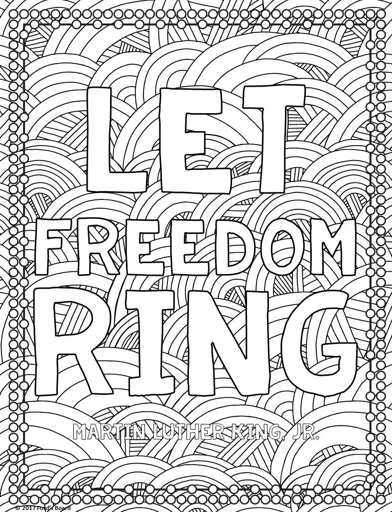 FREE Martin Luther King, Jr. (MLK) Coloring Page from fordsboard.com ...