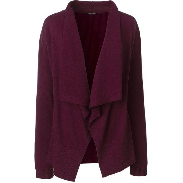 Lands' End Women's Petite Waterfall Cardigan Sweater (2,760 PHP ...