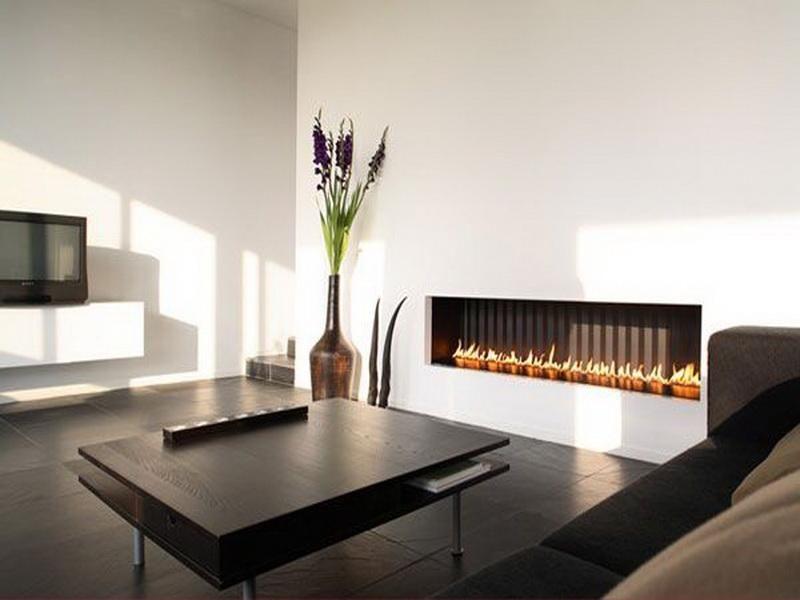amazing long modern fireplace #2: Modern Long Fireplaces Gas