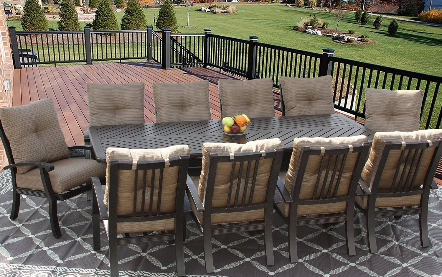 Pin By Zenpatio On Large Patio Dining Set 12 Person 13