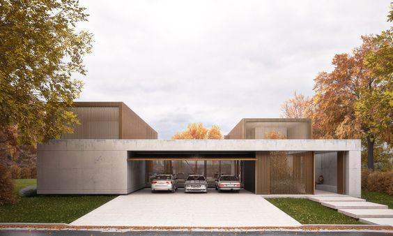 Garage idas arquitectura casas casas y casas modernas for Casa minimalista uy