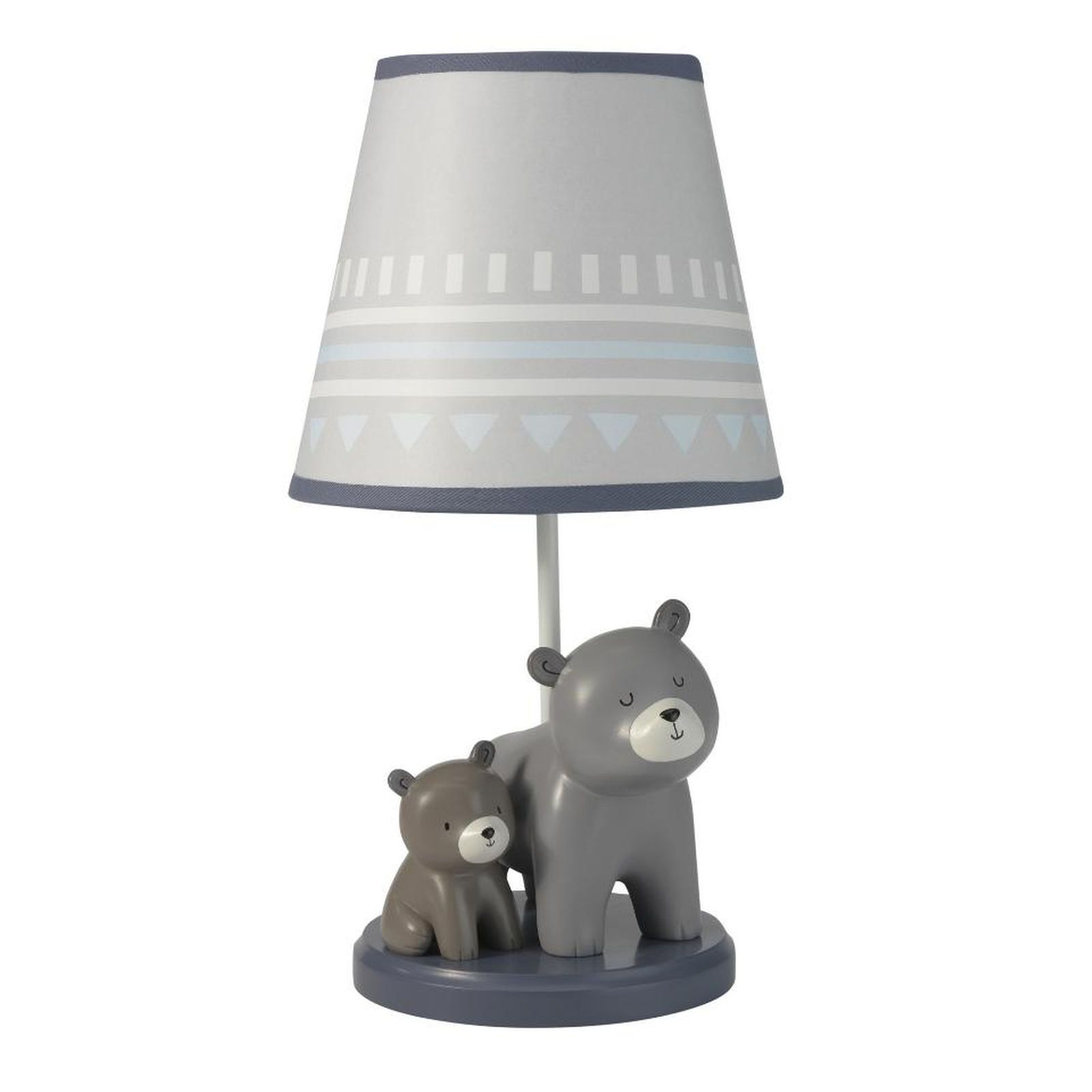 Lambs Ivy R Signature Montana Blue Gray Brown Bear Lamp With