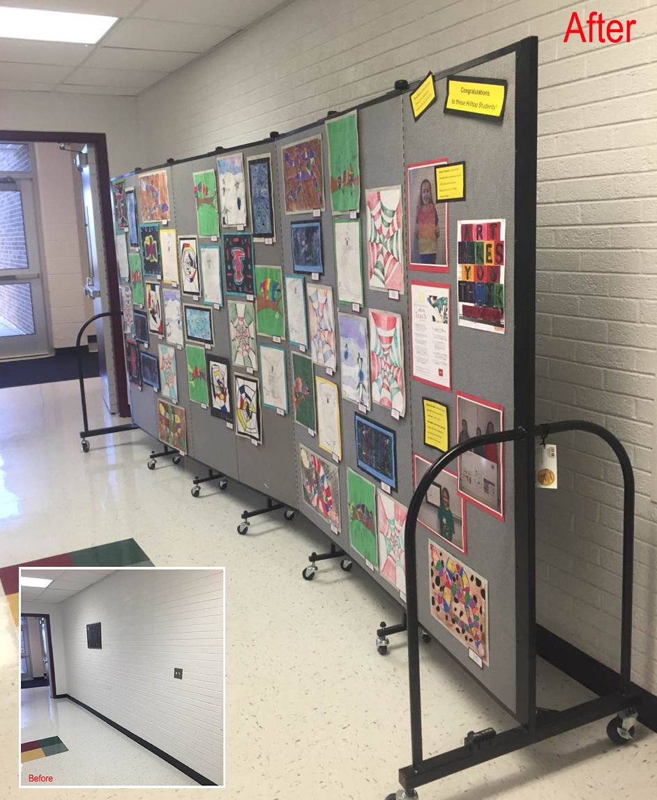 Page not found screenflex portable room iders - View How Art Display Boards Are Used To Display Student Artwork At A School Open House