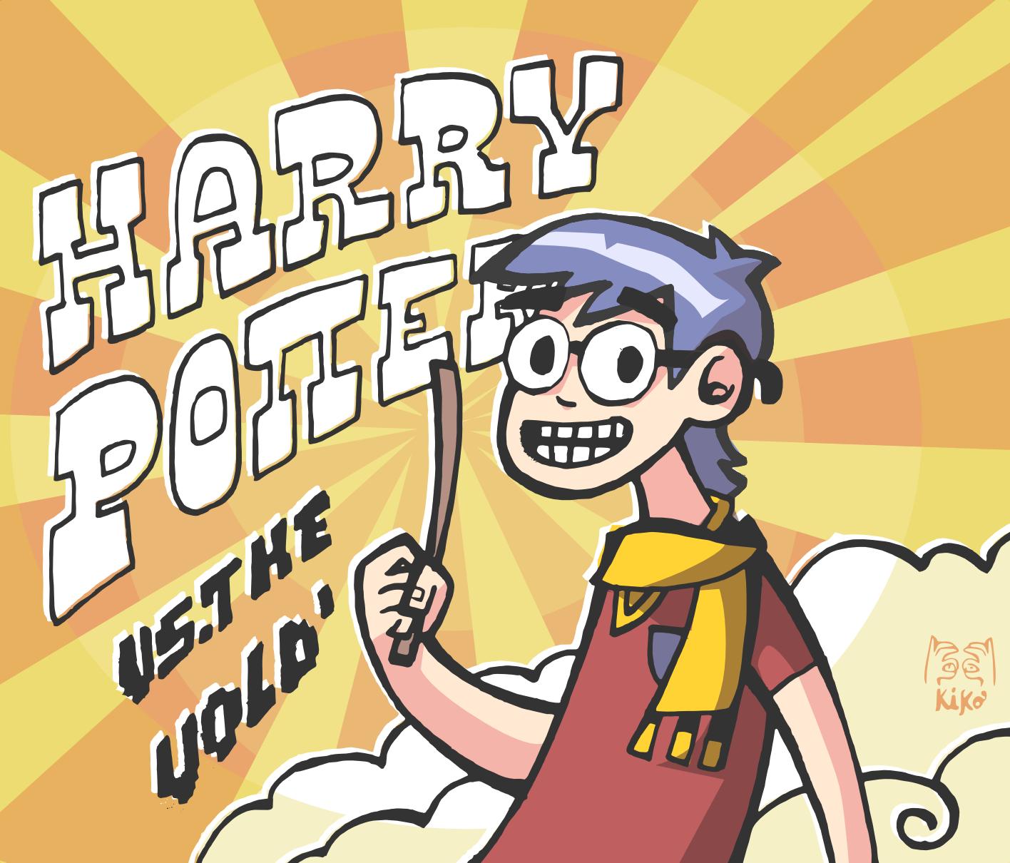 Scott Pilgrim: Harry Potter VS: The Vold'.      Por Kiko Sánchez