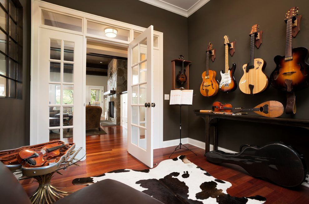 Guitar Decorations Ideas Home Office Transitional With