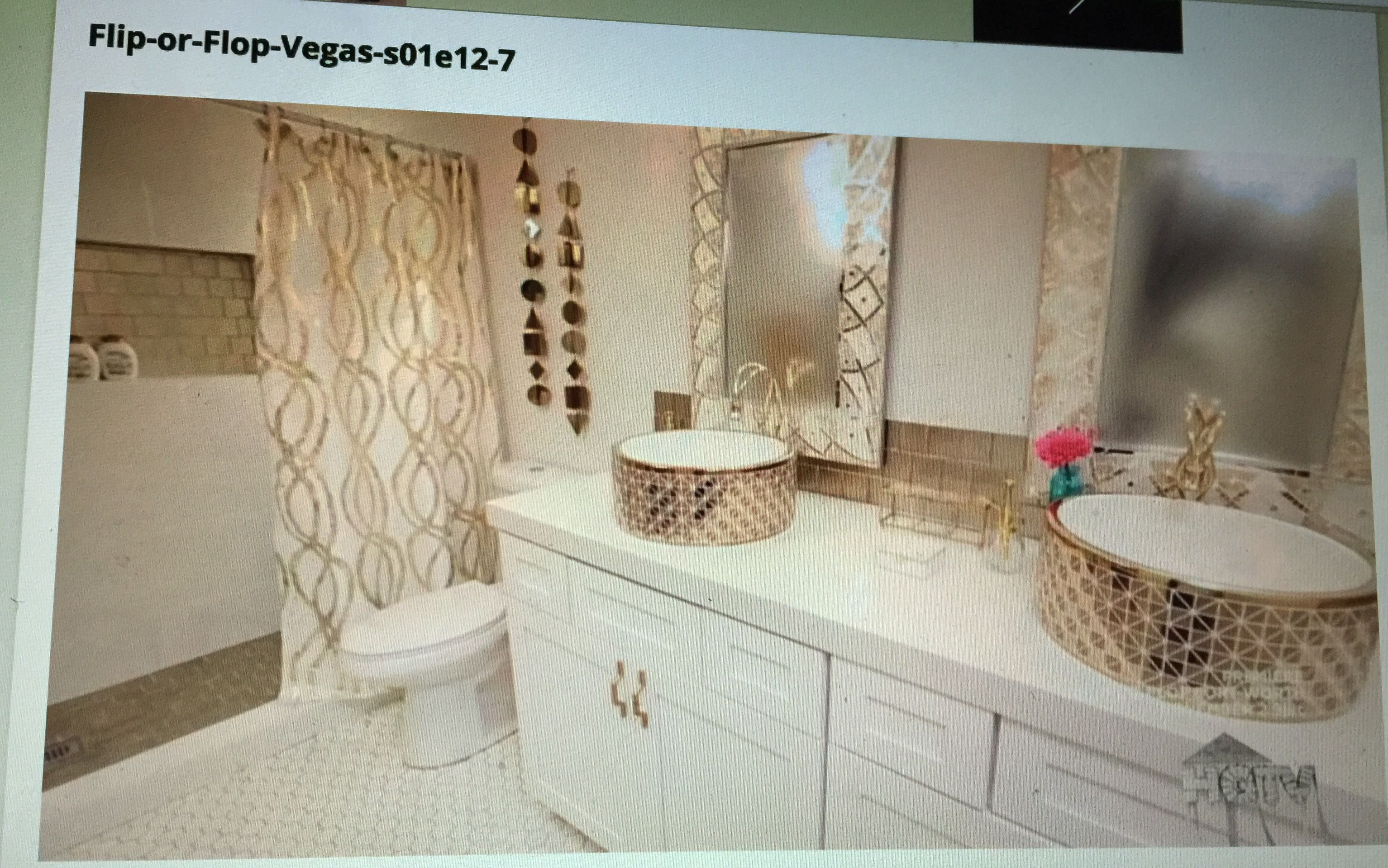 Flip Or Flop Vegas White And Gold Bathroom