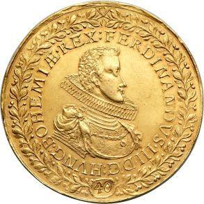 Holy Roman Empire/Bohemia: Ferdinand III gold 40 Ducat 1629 AU58 NGC,... obverse
