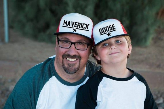"Men's Snapback Hat | Maverick | Flat Bill Matching ""Daddy & Me Series"" Trucker Hat for Dad 