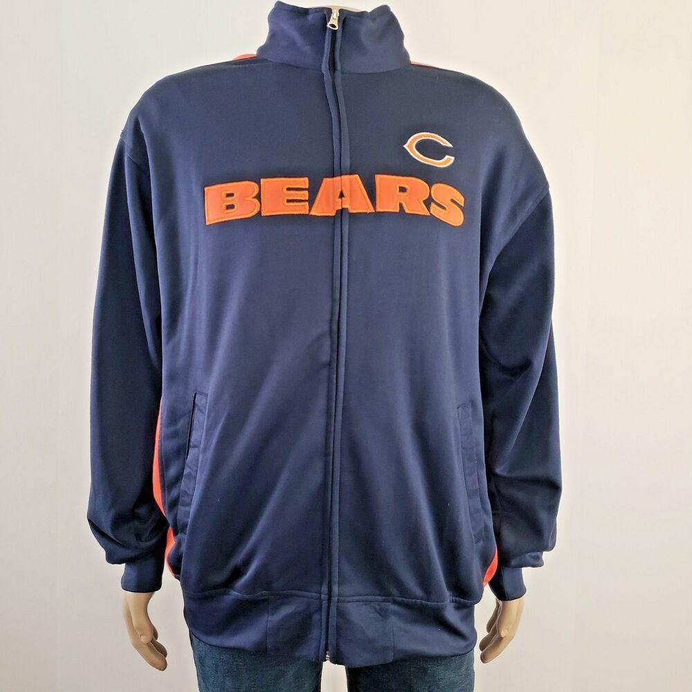 new styles 15f18 e2bcf Nfl Chicago Bears Track Jacket Full Zip Football Team ...