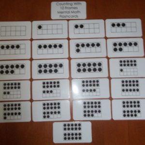 10 Frame Laminated Flashcards Flashcards Cardstock Paper 10 Frame